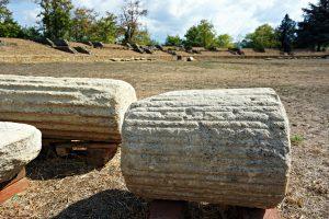 anfiteatro dell'antica libarna, nei pressi di gavi in piemonte.