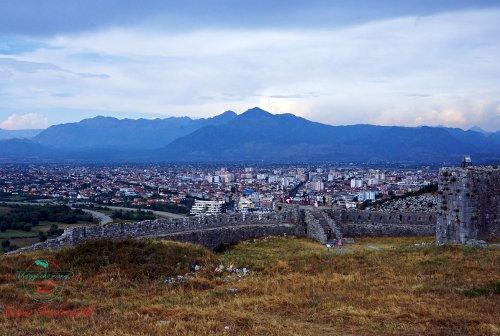 Castello di Rozafa panorama Scutari città da visitare in Albania.