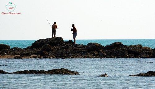 Pescatori a Plazhi i Generalit, Albania.