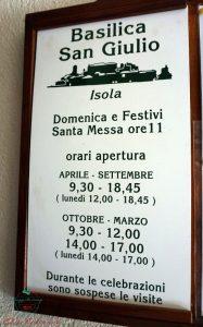orari basilica di san giulio visitare il lago d'orta