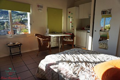 Camera del B&B A Feneira nel Ponente Ligure.