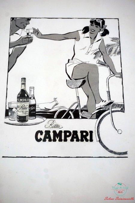 mostra bike passion: pubblicità campari
