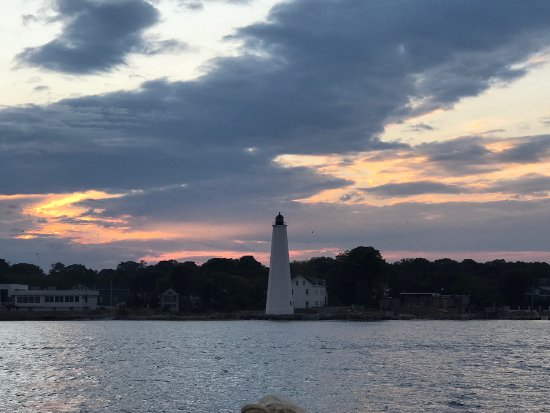 View from water taxi, Groton, CT.