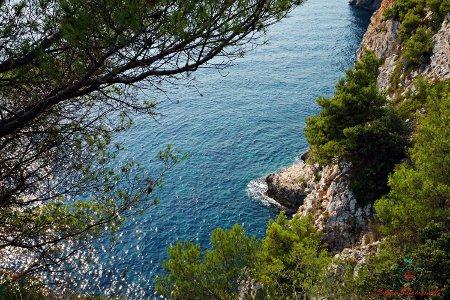 l'azzuro del mare della croazia a Pasjača Beach