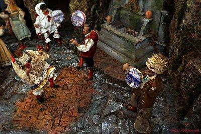 Il presepe napoletano del mercatino dei popoli di rovereto.