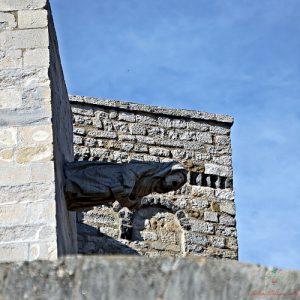 Uno dei doccioni della Cattedrale di Girona raffigura una strega.