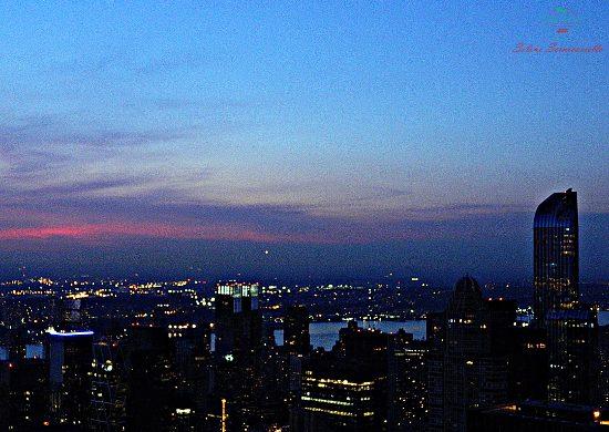 Manhattan al crepuscolo dal Top Of The Rock.