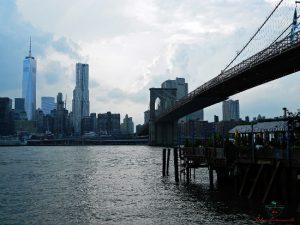 Manhattan dal ponte di Brooklyn.