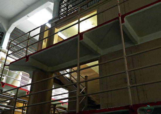 Interno della prigione di Alcatraz.
