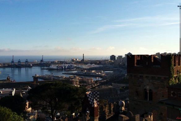 cosa visitare a Genova: Il panorama dal Castello d'Albertis.