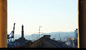 I tetti e la lanterna dalla torre della Cattedrale, un ottimo luogo per godere genova dall'alto.