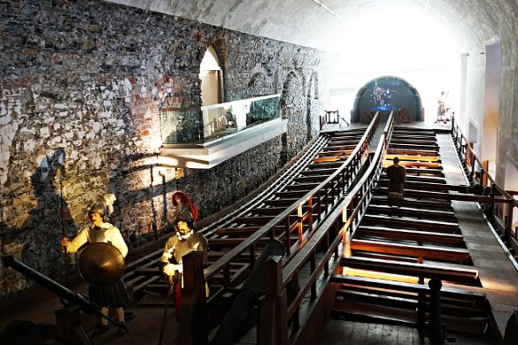 La Galea ricostruita all'interno del Galata Museo del Mare, uno dei migliori musei di genova.
