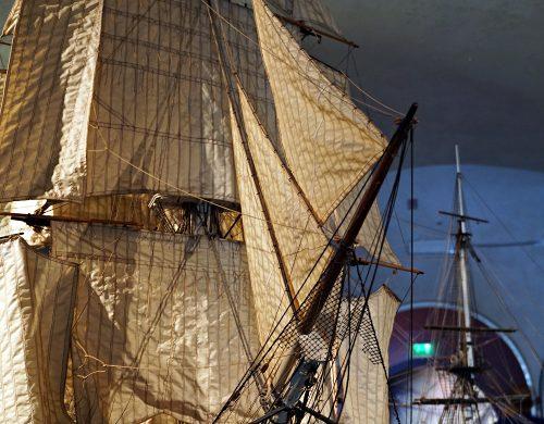 Modellini di navi al Galata Museo del Mare., uno dei migliori musei di genova.