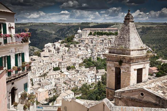 Veduta di Ragusa Ibla, una delle location della serie tv Il Commissario Montalbano.