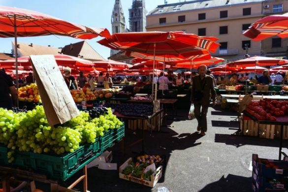 Cosa vedere a Zagabria: il mercato Dolac.