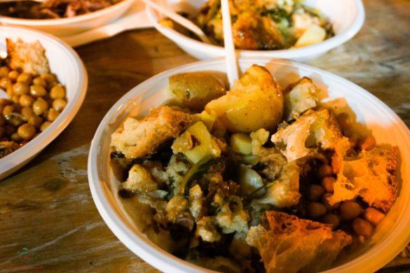 Pan cotto, piatto della tradizione offerto in occasione della festa Frasca, Fanoia e olio novello.
