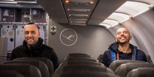 Danilo e Luca di Viaggio italia volano con Lufthansa.