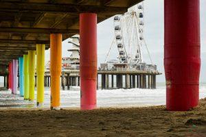 Cosa vedere a L'Aia: la ruota panoramica della spiaggia di Scheveningen.