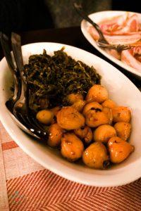 Piatto di salicornia e lampascioni.