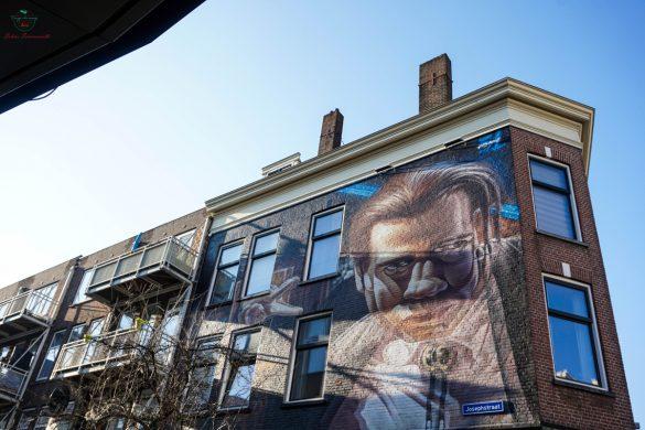 Opera di Street Art in 3d nel centro di Rotterdam.