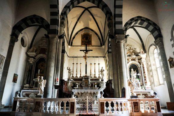 Interno della Chiesa di San Giovanni Battista, Riomaggiore.