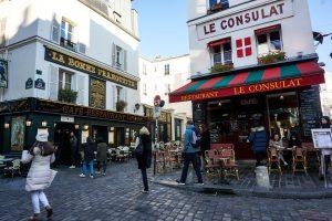 Le caffetterie di Montmartre a Parigi.