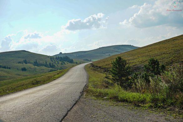 Paesaggio sulla strada per Zlatibor.