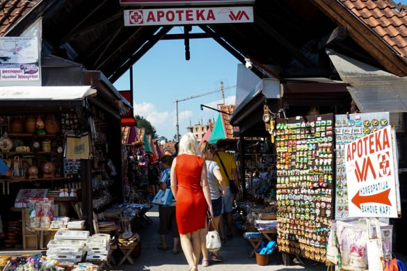 Il bazar, una delle cose da vedere a Zlatibor.