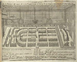 Disposizione del banchetto di nozze di Cosimo II de 'Medici e Maria Maddalena, arciduchessa d'Austria nel 1608.
