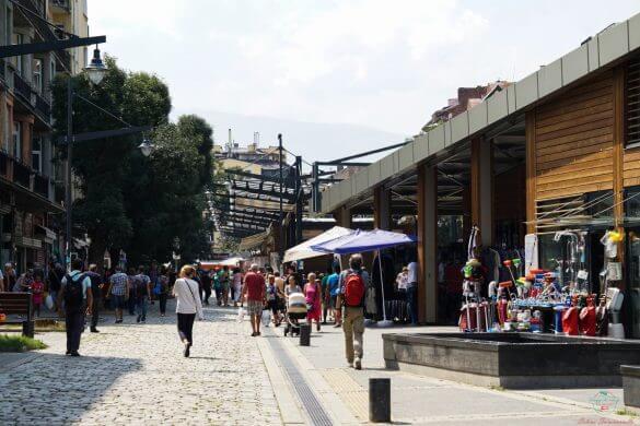Esterno del Mercato delle Donne di Sofia.