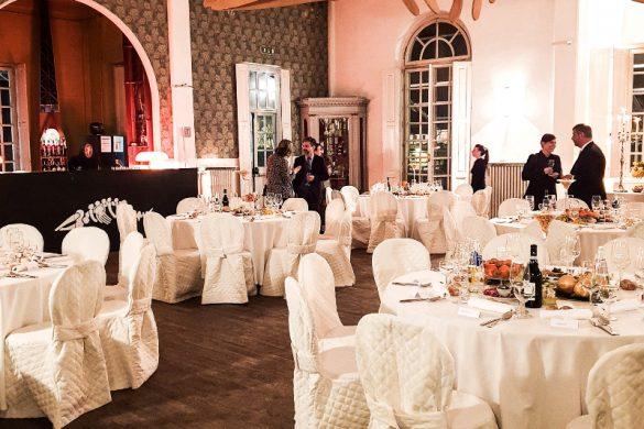 """Interno del ristorante Esperia di Torino dove ha avuto luogo la cena """"La tavola di Leonardo""""."""