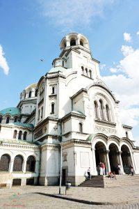 L'ingresso della Cattedrale Alexander Nevsky.