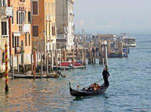 Panorama dal Ponte dell'Accademia a Venezia.
