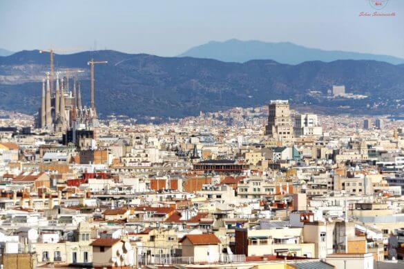 Panorama da Montjuic da vedere in 3 giorni a barcellona.