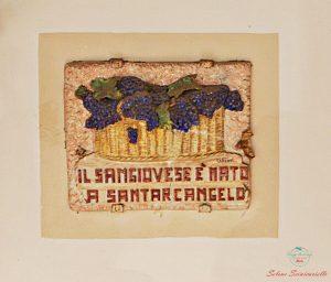 targa che ricorda la leggenda del sangiovese santarcangelo di romagna