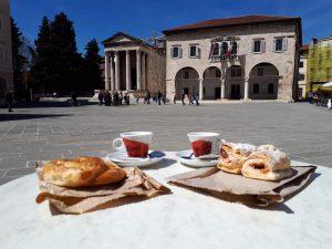 colazione a pola in croazia in autunno