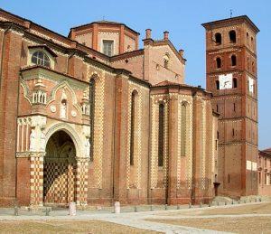 facciata della cattedrale del duomo di asti
