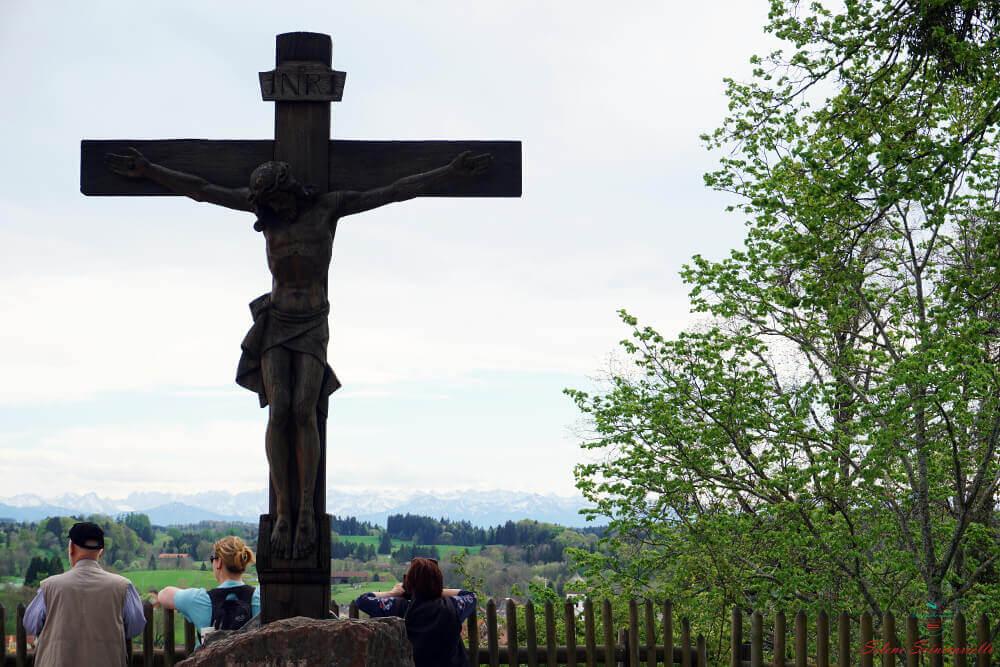 panorama sulle alpi dal monastero di andechs