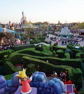 panorama sul parco di disneyland paris