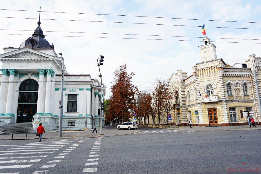 municipio e sala dell'organo a chisinau