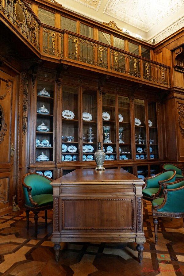 biblioteca della villa reale di monza