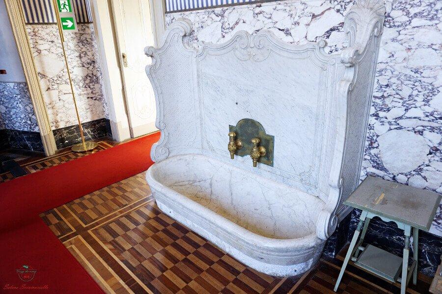 vasca da bagno nella villa reale di monza