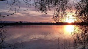 il lago di starnberg nei dintorni di monaco di baviera