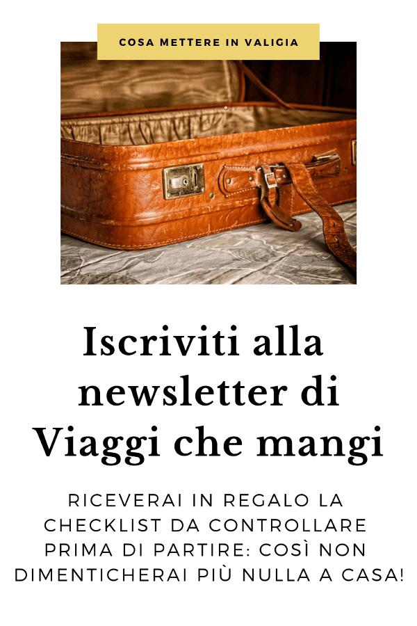 banner di iscrizione alla newsletter