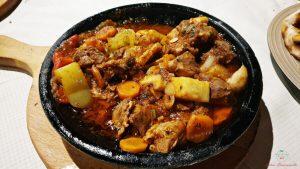 piatto tipico dal ristorante liburnia di pristina
