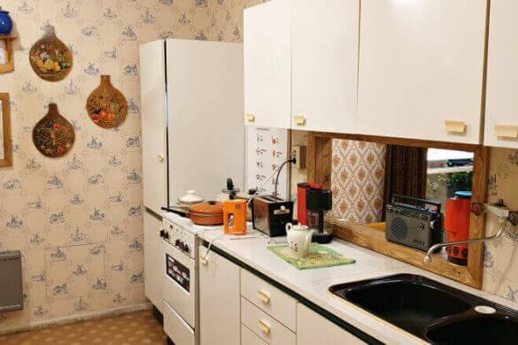 riproduzione di una cucina dell'epoca della DDR