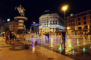 Fontana di alessandro in piazza macedonia a skopje