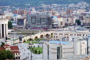 Panorama su Skopje dalla Fortezza.
