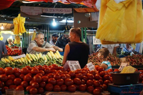 venditore al mercato di skopje