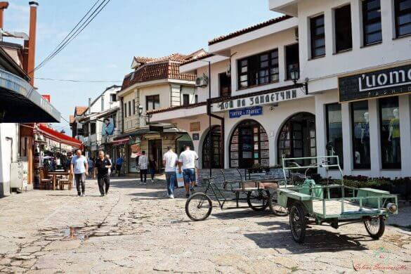 strade dell'Old Bazar di Skopje.